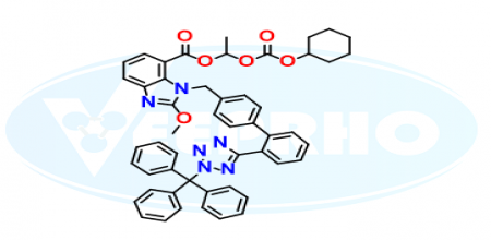 Candesartan Cilexetil N2-Trityl Methoxy Analog