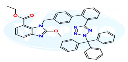 Candesartan Ethyl Ester N2-Trityl Methoxy Analog