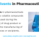 Residual Solvents in Pharmaceuticals